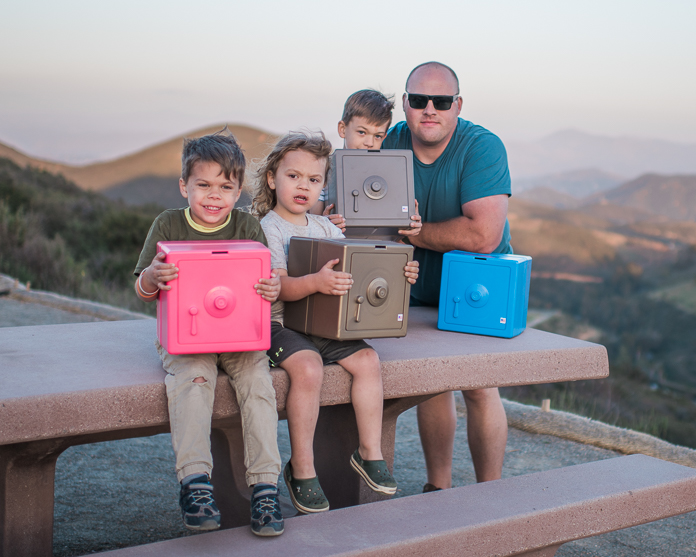 3 kids and their safes
